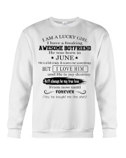 I AM A LUCKY GIRL I HAVE AN AWESOME BOYFRIEND - 6 Crewneck Sweatshirt thumbnail