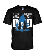Special gift for Father's Day - first hero first l V-Neck T-Shirt thumbnail