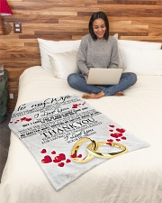 """To my dear wife never forget that i love you Small Fleece Blanket - 30"""" x 40"""" aos-coral-fleece-blanket-30x40-lifestyle-front-08"""