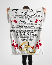 """To my dear wife never forget that i love you Small Fleece Blanket - 30"""" x 40"""" aos-coral-fleece-blanket-30x40-lifestyle-front-14"""