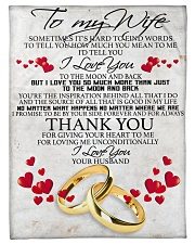 """To my dear wife never forget that i love you Small Fleece Blanket - 30"""" x 40"""" front"""
