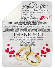 """To my dear wife never forget that i love you Large Sherpa Fleece Blanket - 60"""" x 80"""" thumbnail"""