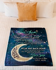"""To my son i love you hope you believe in yourself Small Fleece Blanket - 30"""" x 40"""" aos-coral-fleece-blanket-30x40-lifestyle-front-04"""