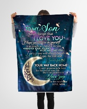 """To my son i love you hope you believe in yourself Small Fleece Blanket - 30"""" x 40"""" aos-coral-fleece-blanket-30x40-lifestyle-front-14"""