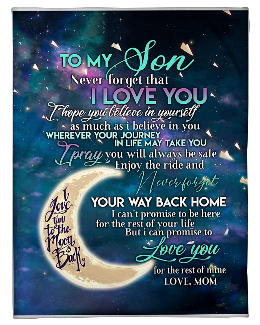 """To my son i love you hope you believe in yourself Small Fleece Blanket - 30"""" x 40"""""""