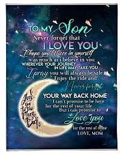 """To my son i love you hope you believe in yourself Small Fleece Blanket - 30"""" x 40"""" front"""