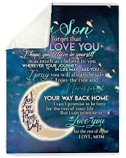 """To my son i love you hope you believe in yourself Large Sherpa Fleece Blanket - 60"""" x 80"""" thumbnail"""