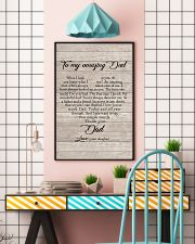 To My Amazing Dad - Daughter 11x17 Poster lifestyle-poster-6