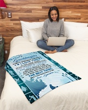 """To my granddaughter ever forget that i love you Small Fleece Blanket - 30"""" x 40"""" aos-coral-fleece-blanket-30x40-lifestyle-front-08"""