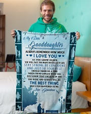 """To my granddaughter ever forget that i love you Small Fleece Blanket - 30"""" x 40"""" aos-coral-fleece-blanket-30x40-lifestyle-front-09"""