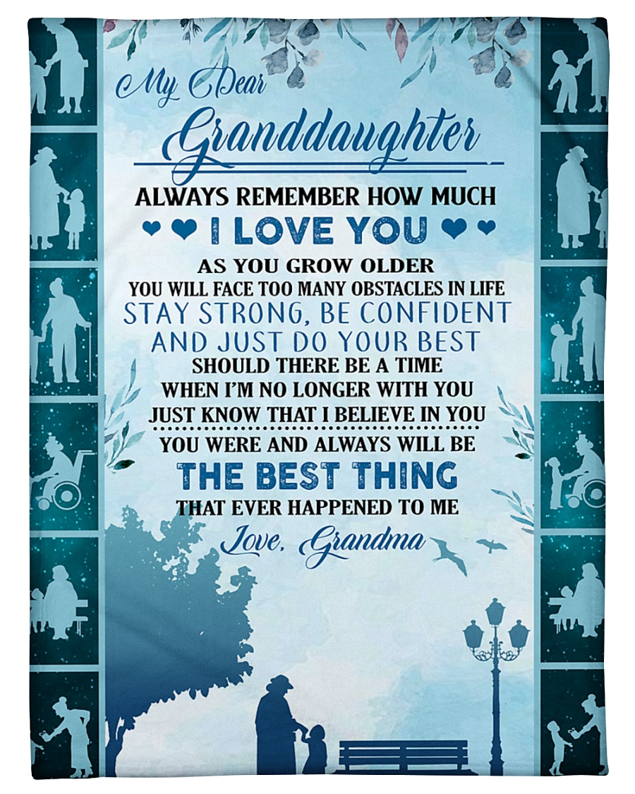 """To my granddaughter ever forget that i love you Small Fleece Blanket - 30"""" x 40"""""""