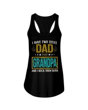 I have two titles dad and grandpa Ladies Flowy Tank thumbnail