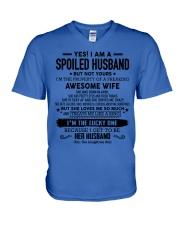 I'm a lucky man W - T04 April V-Neck T-Shirt thumbnail