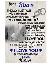 The day I met you I have found my soul loves 11x17 Poster front