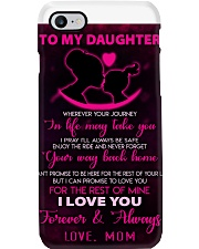 TO MY DAUGHTER - LOVE - MOM Phone Case thumbnail