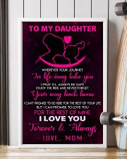 TO MY DAUGHTER - LOVE - MOM 11x17 Poster lifestyle-poster-4