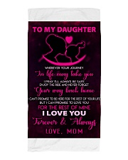 TO MY DAUGHTER - LOVE - MOM Beach Towel thumbnail