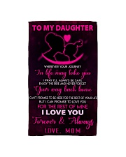 TO MY DAUGHTER - LOVE - MOM Hand Towel thumbnail