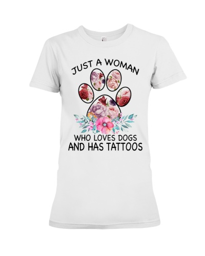 Just a woman who loves dogs and has tattoos - C