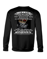 I AM A KING THAT QUEEN IS MY WIFE MAY Crewneck Sweatshirt thumbnail