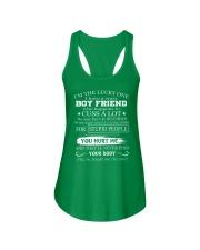 I have crazy boyfriend December Ladies Flowy Tank thumbnail