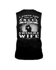 I ASKED GOD FOR AN ANGEL HE SENT ME MY WIFE - CT Sleeveless Tee thumbnail