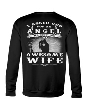 I ASKED GOD FOR AN ANGEL HE SENT ME MY WIFE - CT Crewneck Sweatshirt thumbnail