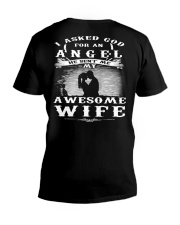 I ASKED GOD FOR AN ANGEL HE SENT ME MY WIFE - CT V-Neck T-Shirt thumbnail