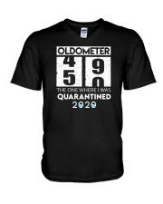 Oldometer 50 the one where i was quarantined 2020 V-Neck T-Shirt thumbnail