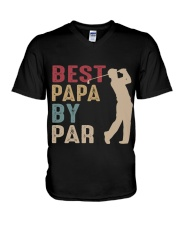 Best Papa By Par V-Neck T-Shirt thumbnail