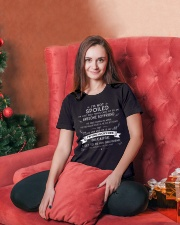 I'M NOT SPOILED - I HAVE AN AWESOME BOYFRIEND - 04 Ladies T-Shirt lifestyle-holiday-womenscrewneck-front-2