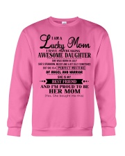 I am a Lucky Mom- Awesome Daughter- Kun 07 Crewneck Sweatshirt thumbnail