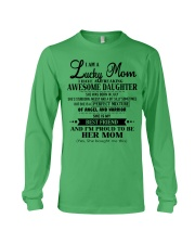 I am a Lucky Mom- Awesome Daughter- Kun 07 Long Sleeve Tee thumbnail