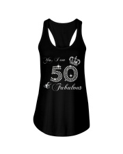 Yes a am 50 and fabulous gift shirt Ladies Flowy Tank thumbnail