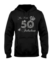 Yes a am 50 and fabulous gift shirt Hooded Sweatshirt thumbnail