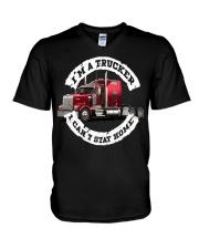 I'm a trucker i can't stay home V-Neck T-Shirt thumbnail