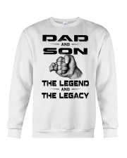 Dad and Son The Legend and The Legacy Crewneck Sweatshirt thumbnail