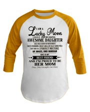 I am a Lucky Mom- Awesome Daughter- Kun 11 Baseball Tee thumbnail