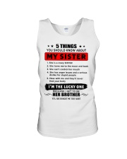5 things about my sister T0 Unisex Tank thumbnail