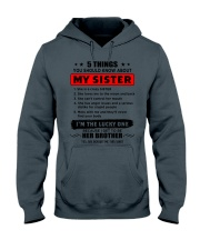 5 things about my sister T0 Hooded Sweatshirt thumbnail