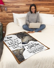 "To my dear son never forget that i love you Small Fleece Blanket - 30"" x 40"" aos-coral-fleece-blanket-30x40-lifestyle-front-08"