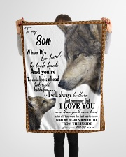 "To my dear son never forget that i love you Small Fleece Blanket - 30"" x 40"" aos-coral-fleece-blanket-30x40-lifestyle-front-14"