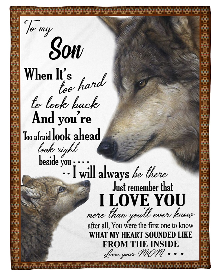 "To my dear son never forget that i love you Small Fleece Blanket - 30"" x 40"""
