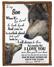 "To my dear son never forget that i love you Small Fleece Blanket - 30"" x 40"" front"