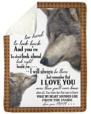 "To my dear son never forget that i love you Large Sherpa Fleece Blanket - 60"" x 80"" thumbnail"