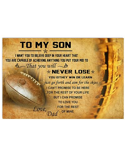 TO MY SON - football
