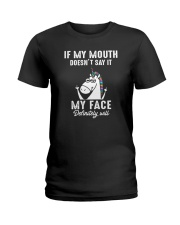 Unicorn my face Ladies T-Shirt thumbnail