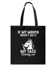 Unicorn my face Tote Bag thumbnail