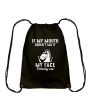 Unicorn my face Drawstring Bag thumbnail