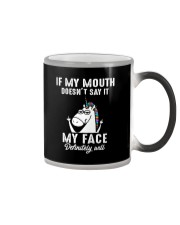 Unicorn my face Color Changing Mug thumbnail